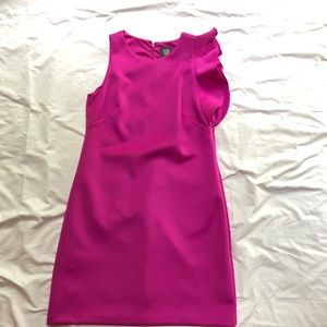BN Vince Camuto Hot Pink One Shoulder Fitted Dress